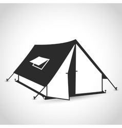 tent flat icon vector image vector image