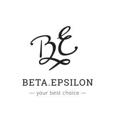 hand drawn style elegant letter logo vector image vector image