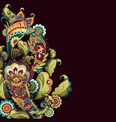 oriental pattern bright vector image