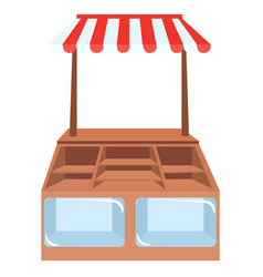 shop showcases store shelves or vector image vector image