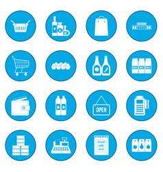 supermarket icon blue vector image