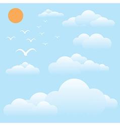 bird at sky sun and cloud vector image