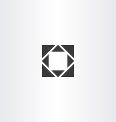 black square geometry with triangles vector image