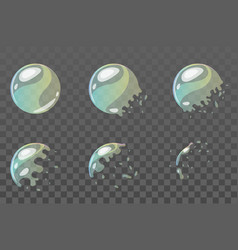 bubble burst sprites for animation vector image vector image