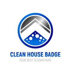 Clean house badge symbol design vector