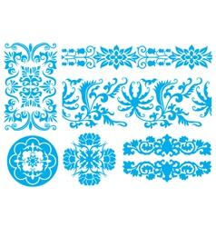flower fancy pattern vector image