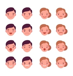 Set of 16 different emotions vector image