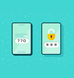 2fa icon password secure login authentication vector image