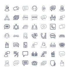 49 talk icons vector