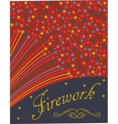 Abstract festive fireworks background vector