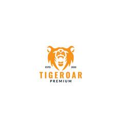 Animal tiger head face roar modern logo design vector