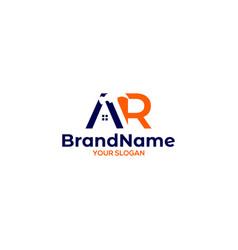 Ar hammer construction logo design vector
