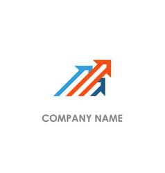 Arrow line colored logo vector