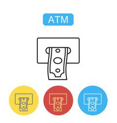 atm terminal icon vector image