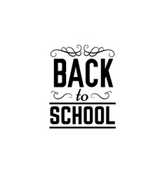 Back to school quote typographical background vector