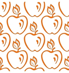 background apples vector image