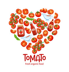 banner with red tomato vector image