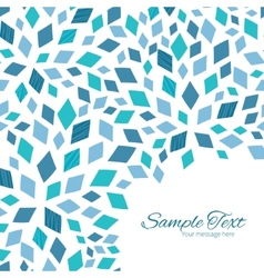 blue mosaic texture frame corner pattern vector image