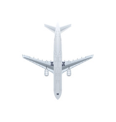 Bottom view jet airplane isolated icon vector