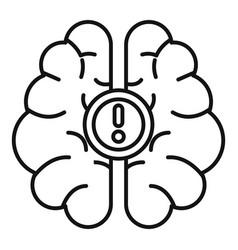 brain idea icon outline style vector image