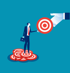 Business man chooses a perfect goal concept vector