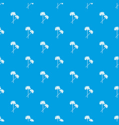 Carnation pattern seamless blue vector
