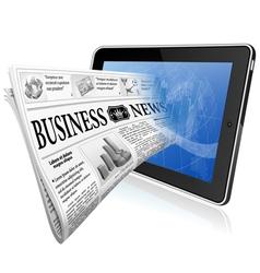 Concept - Digital News vector image vector image