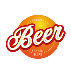 craft beer sign label lettering vector image