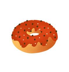 Doughnut flat tasty donut vector
