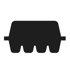 egg box icon simple style vector image