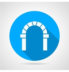 Flat circle icon for round arch vector image