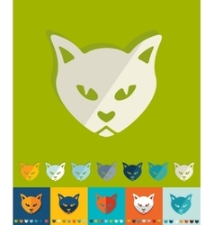 Flat design cat vector image