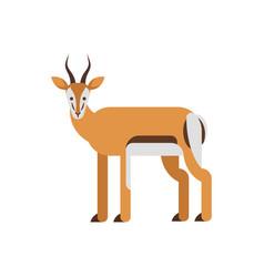 Flat style antelope vector