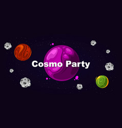flyer for party cosmo party vector image