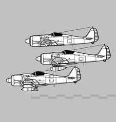 focke-wulf fw 190 vector image