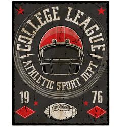 football sport typography t-shirt graphics vector image