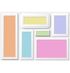 Frames with a colorful background vector image