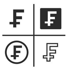 franc currency symbol set vector image