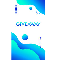 Giveaway template liguid blue wavy vector