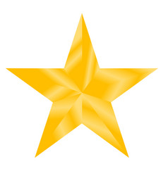 gold star sign gold star on white background vector image