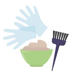 Hair dye tools vector
