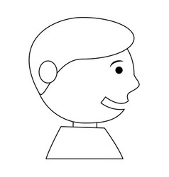 happy man face cartoon vector image