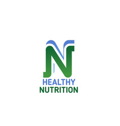 healthy nutrition symbol for health food and diet vector image