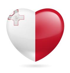 Heart icon of Malta vector