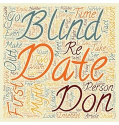 How to Survive and Enjoy a Blind Date text vector image