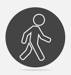 Icon a walking pedestrian a walking man on vector