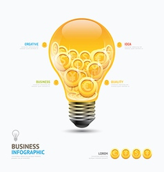Infographic business currency money coins light bu vector