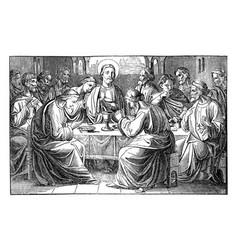 Jesus and last supper twelve disciples vector