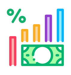 money infographic icon outline vector image