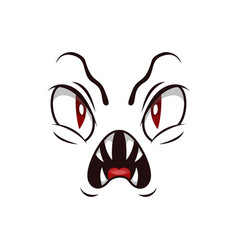 Monster face isolated icon roaring devil vector